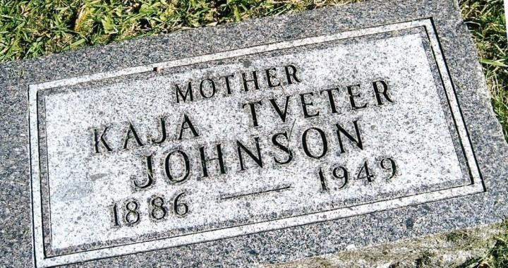 Kaja headstone full